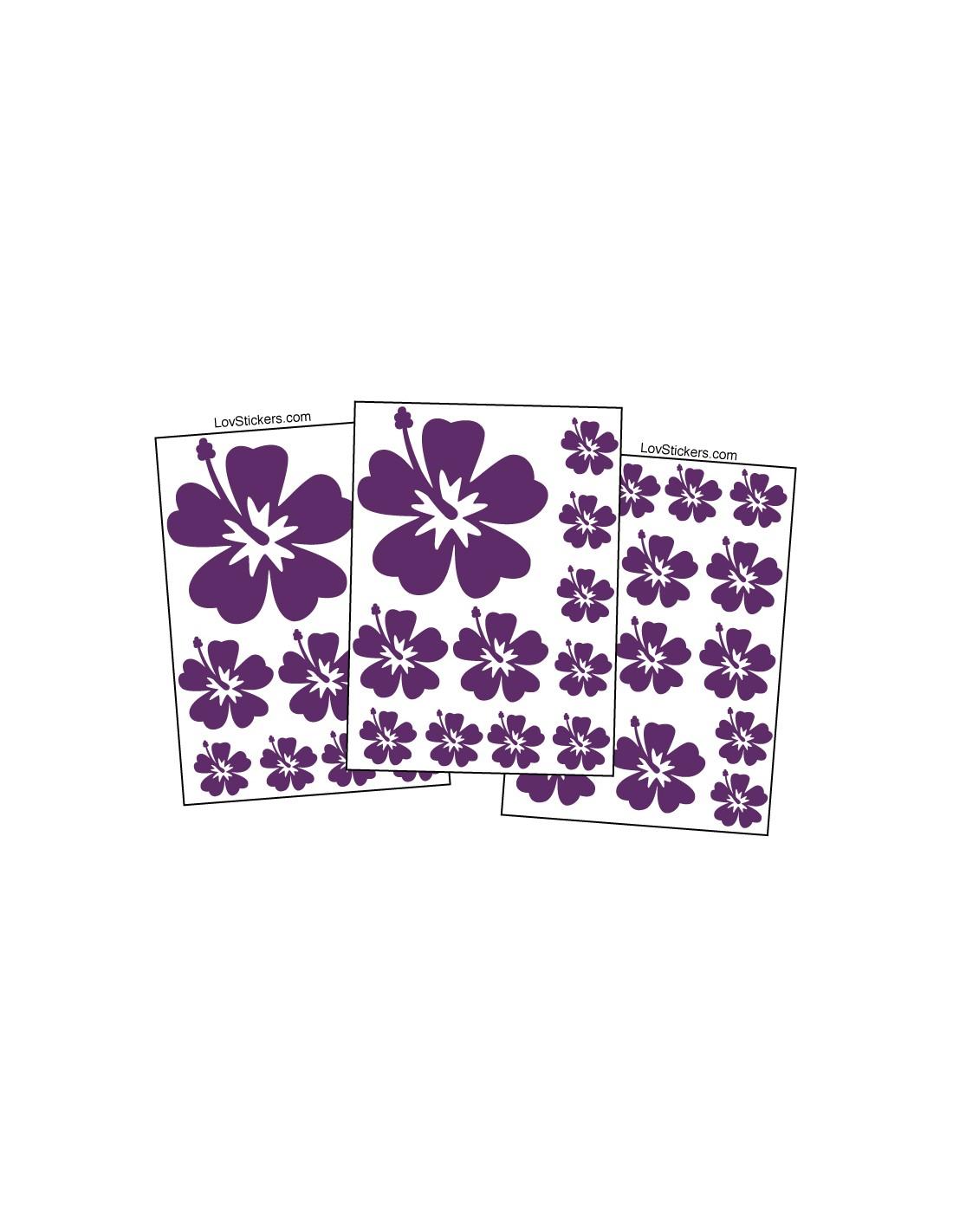 stickers autocollant hibiscus pour voiture. Black Bedroom Furniture Sets. Home Design Ideas