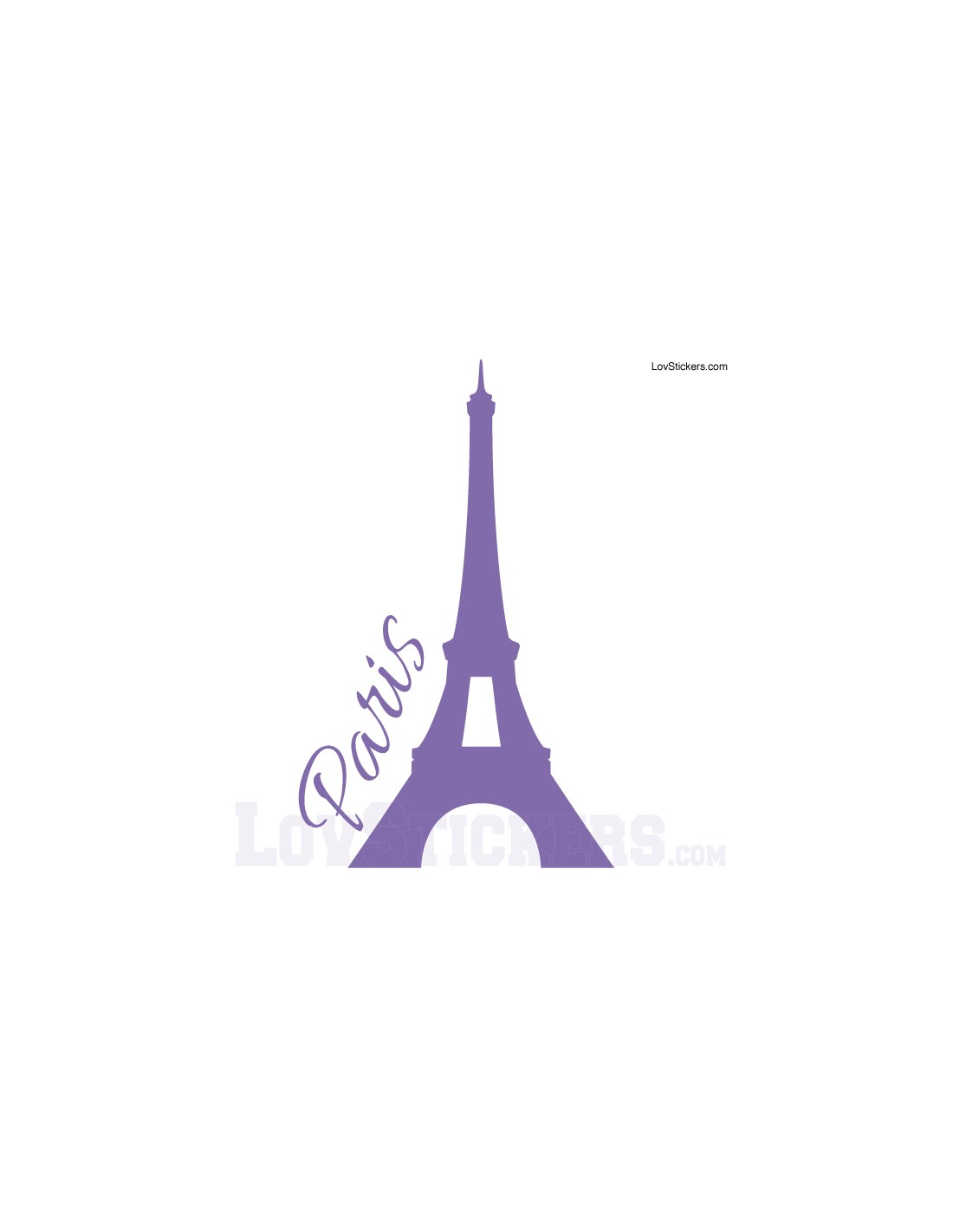 sticker de d coration paris tour eiffel. Black Bedroom Furniture Sets. Home Design Ideas