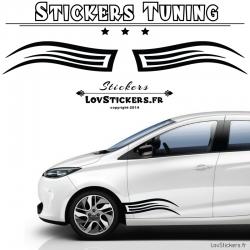 Autocollant Tribal Stickers bande laterale pour auto voiture