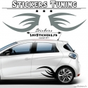 2 Bandes Latérales Tribal Tuning Voiture - Stickers Deco auto voiture