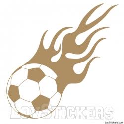 Stickers Ballon de Football en flamme