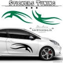 2 Stickers Tribal Tuning Voiture - Decoration -