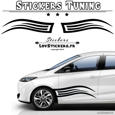 2 Tribal Tuning Voiture - Stickers de Decoration