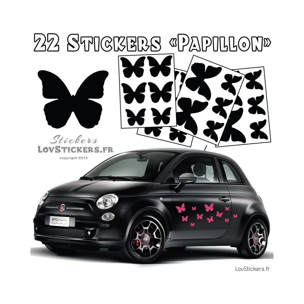 stickers pour voiture papillon my blog. Black Bedroom Furniture Sets. Home Design Ideas