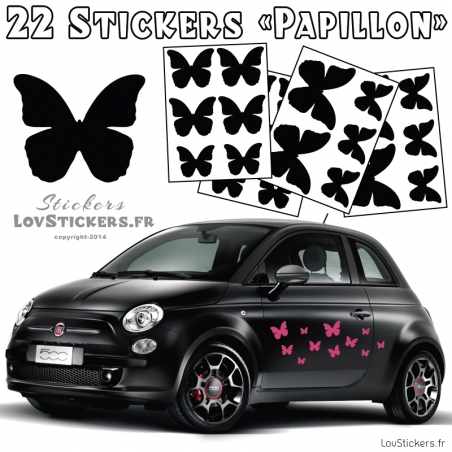 22 Stickers Papillons Deco