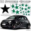 Stickers Vinyle Etoile pour decoration de la voiture - Stickers pas cher