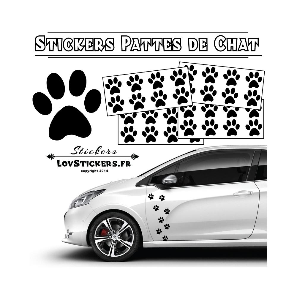 32 Stickers Pattes de Chat - Autocollant Deco auto voiture Moto Scooter