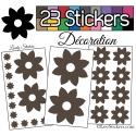 23 Stickers Fleur Mixte - Autocollant Décoration Intérieur