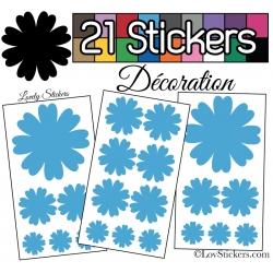 21 Stickers de decoration pour la maison - Autollant Vinyle repositionnable et non permanent