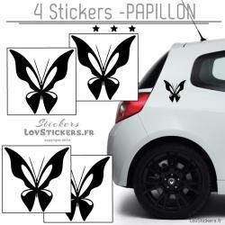 Decoration papillon pour voiture - Autocollant de decoration