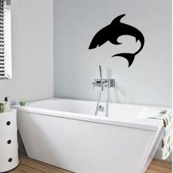 Stickers d'un requin pour salle de bain
