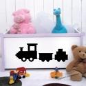 Sticker dessin d'un petit train pour enfant ou bébé