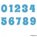 Stickers Chiffres bleu ciel - 10 Numeros Educatif pour chambre enfant