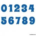 Stickers Chiffres bleu - 10 Numeros Educatif pour chambre enfant
