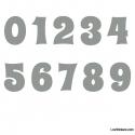 Stickers Chiffres Gris - 10 Numeros Educatif pour chambre enfant