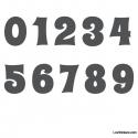 Stickers Chiffres Gris dark - 10 Numeros Educatif pour chambre enfant