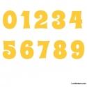 Stickers Chiffres jaune - 10 Numeros Educatif pour chambre enfant