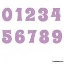 Stickers Chiffres lilas - 10 Numeros Educatif pour chambre enfant