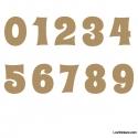 Stickers Chiffres marrons clair - 10 Numeros Educatif pour chambre enfant