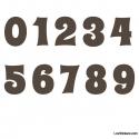 Stickers Chiffres marrons - 10 Numeros Educatif pour chambre enfant