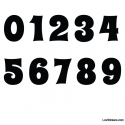 Stickers Chiffres noir - 10 Numeros Educatif pour chambre enfant
