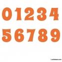 Stickers Chiffres Orange - 10 Numeros Educatif pour chambre enfant