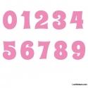 Stickers Chiffres rose clair - 10 Numeros Educatif pour chambre enfant
