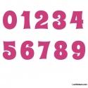 Stickers Chiffres rose - 10 Numeros Educatif pour chambre enfant