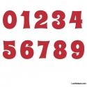 Stickers Chiffres rouge - 10 Numeros Educatif pour chambre enfant
