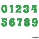 Stickers Chiffres vert clair - 10 Numeros Educatif pour chambre enfant