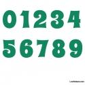 Stickers Chiffres vert - 10 Numeros Educatif pour chambre enfant