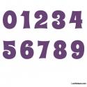 Stickers Chiffres violet - 10 Numeros Educatif pour chambre enfant