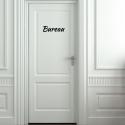 Sticker Porte - Typographie 01