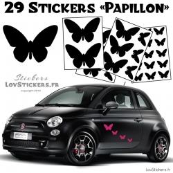 Lot de stickers pour decorer votre voiture Autocollant Papillons