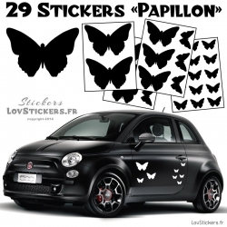 29 Stickers Papillon Deco