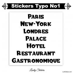 Font Litz - 2 Stickers lettres et chiffres adhesif - Autocollant voiture auto vitrine magasin