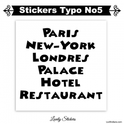 Font Block - 2 Stickers lettres et chiffres adhesif - Autocollant voiture auto vitrine magasin