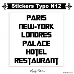 Stickers caractères adhesif - Lot de 2 - Autocollant voiture auto vitrine magasin