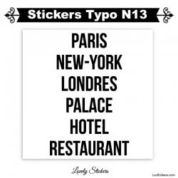 Stickers caractères adhesif - Autocollant pas cher voiture auto vitrine magasin