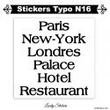 Caractère adhesif pour Publicité et affichage - Lot de 2 stickers Vinyle
