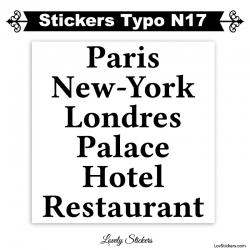 Sticker Voiture publicité panneau et vitrine - Lot de deux caractere adhesif en vinyle