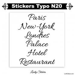 Sticker Voiture publicité panneau et vitrine - Lot de deux caracteres adhesif en vinyle