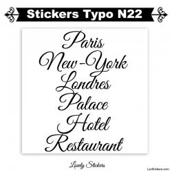 Sticker caractere lettrage pour publicité pas cher