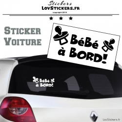 Sticker Bébé à Bord ! - Securité enfant voiture
