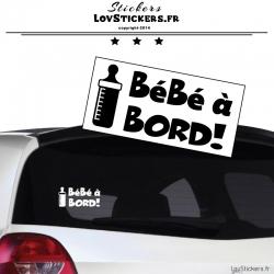 Sticker Bébé à Bord Biberon - Sécurité enfant voiture