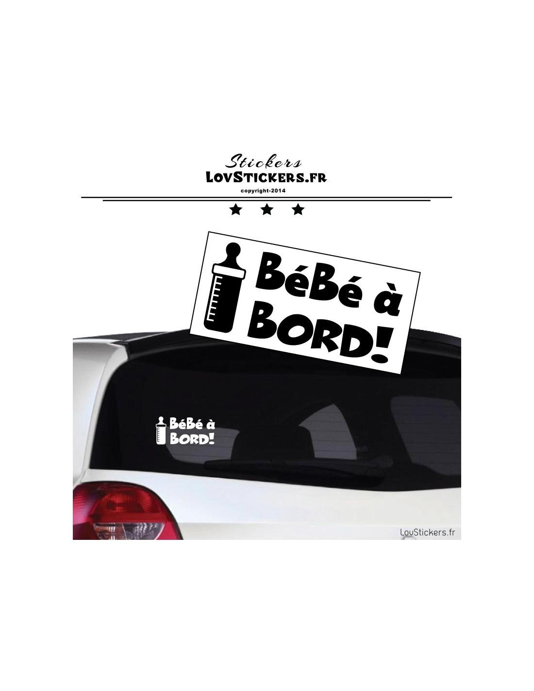 sticker b b bord biberon s curit enfant voiture 4 99. Black Bedroom Furniture Sets. Home Design Ideas