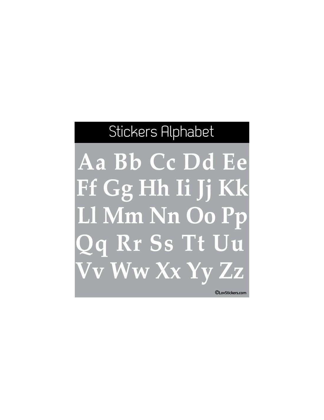 Sticker alphabet 52 lettres minuscules et majuscules
