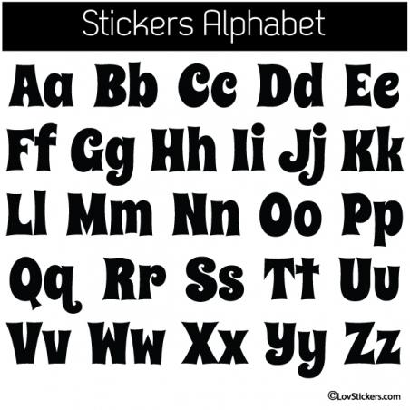 Sticker Alphabet - 52 Lettres Minuscules et Majuscules -