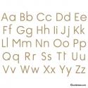 Sticker Alphabet - 57 x 44 cm - Decoration Murale éducative pour pas cher