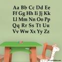 Sticker Alphabet - 57 x 43 cm - Decoration Murale éducative